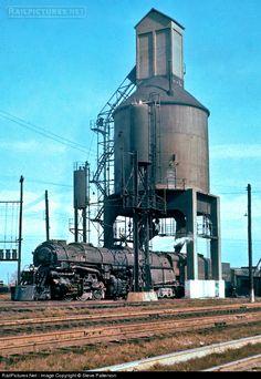Receiving coal from coal tower Columbus Ohio 1957