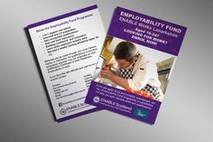 ENABLE WORKS - Double sided flyer designs for ENABLE Works Lanarkshire's Employability Fund.