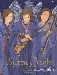 Silent Night by Susan Jeffers http://www.amazon.com/dp/0525471367/ref=cm_sw_r_pi_dp_w7Zswb01AWFK7
