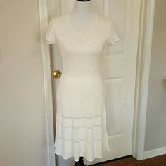 "EXCELLENT CONDITION SWEATER KNIT DRESS I cut out neck tag, 35"" length Dresses"