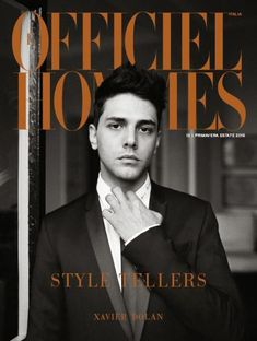 XAVIER DOLAN COVERS L'OFFICIEL HOMMES ITALIA SPRING/SUMMER 2015 ISSUE
