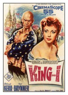 """The King and I. 1956  """"Et cetera, et cetera, et cetera!"""""""