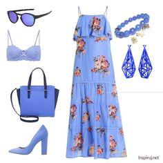 Stylizacje dnia z Inspiruj.net –błękit letniego nieba - KobietaMag.pl Boho Style, Boho Fashion, Dark Blue, Summer Outfits, Navy, Image, Ideas, Bohemian Fashion, Dark Teal
