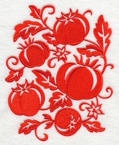 Simply Tomatoes design (M3900) from www.Emblibrary.com