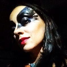 Black bird makeup!