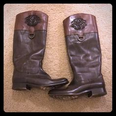 Authentic 2 tone frye boots Excellent condition, given as a gift worn only a few times Frye Shoes Over the Knee Boots