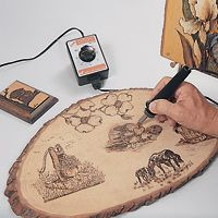 wood burning.  i think this could be super cool for me, just gotta break down and buy the burner, i guess.