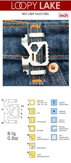 LOOPY PATH and LAKE multi-tools for your belt loops. LOOPY POWER Bank to charge your phone directly from your belt loop.