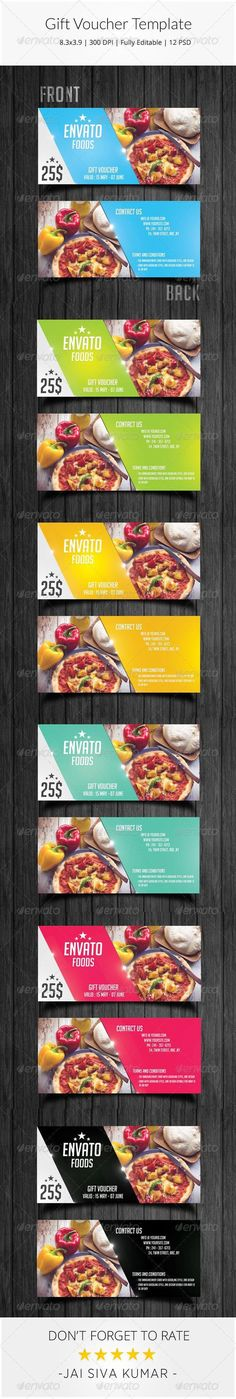 Gift Voucher Template #template #cards #print #invites: