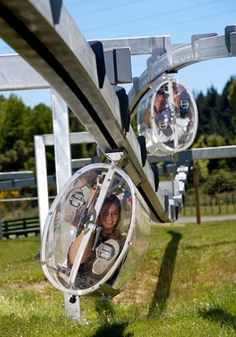 Shweeb is a pedal powered Monorail Ride in New Zealand