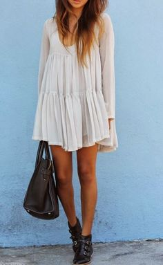black booties and white dress