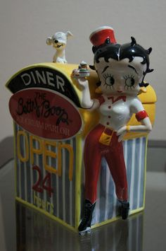 Betty Boop Diner Cookie Jar made in China by Pacific Enterprises