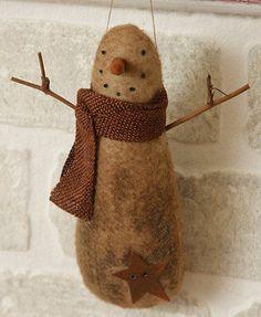 Extreme-Primitive-Folk-Art-Snowman-Shaker-Peg-Ornie-Rusty-Star-Grungy-Colonial