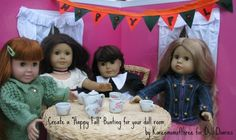 make a doll house sized party bunting