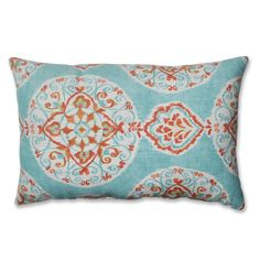 Pillow Perfect Mirage Medallion Rectangular Throw Pillow - Overstock™ Shopping - Great Deals on Pillow Perfect Throw Pillows