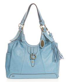 Børn Sky Colusa Leather Hobo | zulily Love the color of this purse.