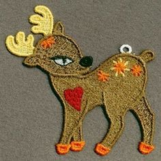 FSL Reindeer 3 - 4x4 | FSL - Freestanding Lace | Machine Embroidery Designs | SWAKembroidery.com Ace Points Embroidery