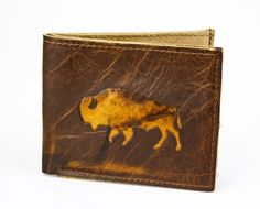Bison Reclaimed American Leather Bifold Wallet