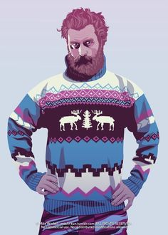 "Tormund. | 28 personajes de ""Game Of Thrones"" teletransportados a los 80 y 90"