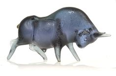 """Corroso"" glass bull by Alfredo Barbini for Cenedese"