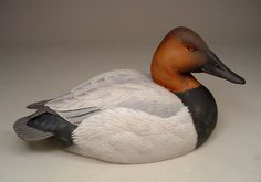 Canvasback Drake 2003 - Decorative Smoothie - Original Wildfowl Sculpture by Pat Godin