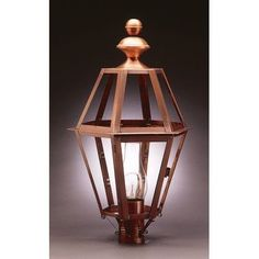 Northeast Lantern Boston 1 Light Lantern Head Finish: Antique Brass, Shade Type: Clear