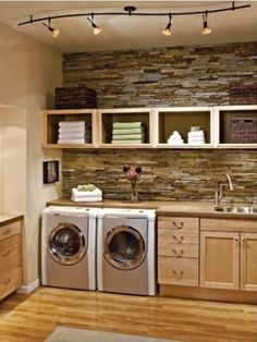 Another fab laundry room love the back splash