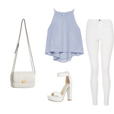 Bby blue by uchirani on Polyvore featuring polyvore, fashion, style, Zara and Quiz