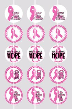 Bottle Cap Image Sheet  Instant Download - Awareness Breast Cancer - 1 Inch Digital Collage - Buy 2 Get 1 Free by pixelilicious on Etsy, $2.00