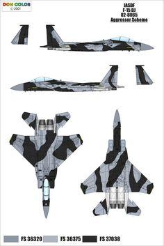 EAGLE F-15 esquemas de pintura