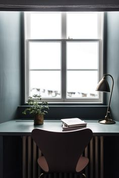 A work space / desk in dark, rich colours  at enchanting Killiehuntly farmhouse…