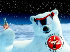 COCA-COLA Polar Bear with Ski Goggles (1995)  _____________________________ Reposted by Dr. Veronica Lee, DNP (Depew/Buffalo, NY, US)