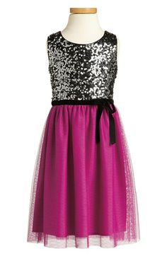 Zunie Sequin Sleeveless Dress (Big Girls) available at #Nordstrom