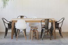 Ventura Dining Table - Quarter Sawn White Oak - Free Shipping. $990.00, via Etsy.