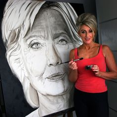 https://www.youtube.com/watch?v=3Tpet-wVO0I #hillaryclinton  #oilpaint on linen 120x120cm While the whole world is waiting till November 8, I decided to contribute to the #presidentialbattle by portraying both Clinton and #donaldtrump. On the 10th of September I started and I aim to finalize their portraits by election day. Along the way I will post #timelapse videos to keep you updated on the progress I am making. Please like and share my video's subscribe to my YouTube channel and follow…