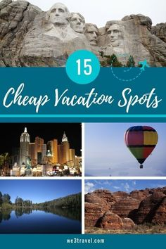 15 Cheap Vacation Spots for a Fun Summer Vacation Not sure where to go this summer on a limited budget? Here are 15 cheap summer vacation ideas to get you started. Cheap Vacation Spots, Cheap Family Vacations, Couples Vacation, Best Vacations, Vacation Trips, Summer Vacation Ideas, Vacation Deals, Vacation Packages, Vacation Places