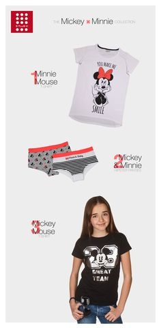 Disney - Mickey x Minnie collection T-Shirts and underwear