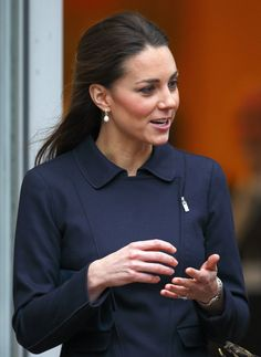 Pin for Later: These Are the Earrings That Kate Middleton Wears With Everything November 2013 Attending the Place2Be forum.