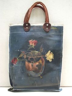 Painting Bag - Fall Blooms A series of unique, leather handled carry bags made by hand using vintage oil paintings sourced exclusively from markets in Holland and Belgium. from Swarm