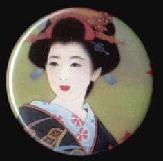 Madame Butterfly Button by kohaku16 on Etsy, $3.00
