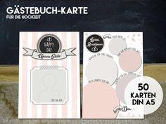 50+GÄSTEBUCH+KARTEN+-DIN+A5-+für+die+Hochzeit+von+KleineFabrik+auf+DaWanda.com