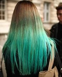 straight-brown-hair-with-turquoise-dip-dye-ombre-ends