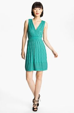 M Missoni Knit V-Neck Dress in Aqua | Nordstrom $545