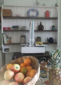 Large bespoke rustic kitchen wall shelves by Furniturefruit