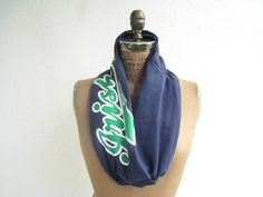 Notre Dame T Shirt Scarf / Infinity Scarf / Emerald Green by ohzie