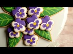 How To Make Pansy Cookies      By Amber Spiegel Sweetambs     http://www.sweetambs.com/
