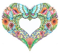 Set of beautiful coloring pages called Open Hearts, $20 on Etsy.