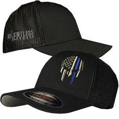"""Blue Line Warrior """"Trucker Mesh"""" FlexFit Hat"""