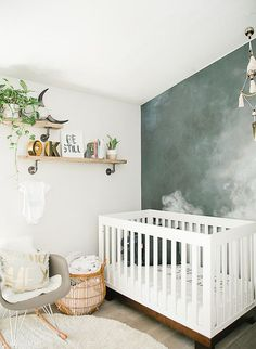 Contemporary Baby Bedroom With Modern Baby Girl Princess: Modern Smoke Mural Nursery For A Baby Boy Baby Bedroom, Baby Boy Rooms, Baby Room Decor, Baby Boy Nurseries, Nursery Room, Girl Nursery, Nursery Wall Murals, Room Baby, Child Room
