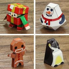 PAPERMAU: Christmas Time - Four Cute Christmas Paper Toys - by Fold Up Toys